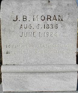J B Moran Tomb Stone